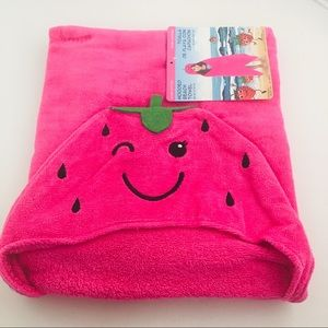 Other - Smiley Pink Hooded Beach/Pool/Bath Towel